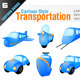Transportation Vehicle Icons - GraphicRiver Item for Sale