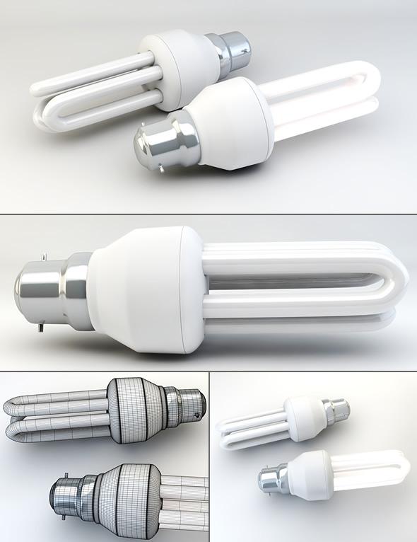 3DOcean Energy Saving Light Bulb 2 3055497