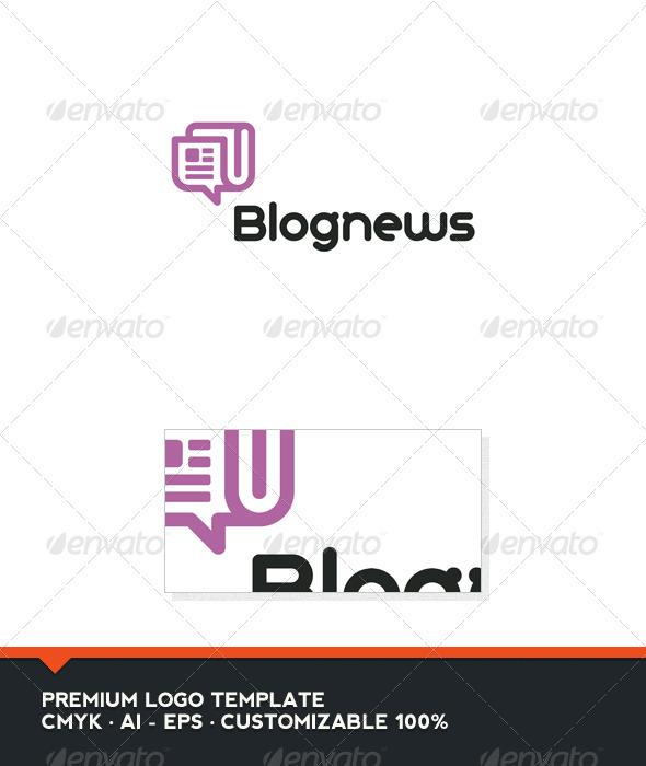Blog News Logo Template
