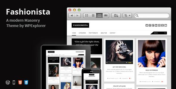 ThemeForest Fashionista Responsive WordPress Blog Theme 3050123