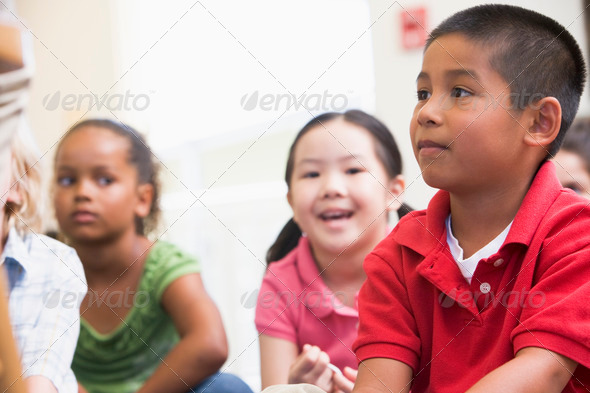 Stock Photo - PhotoDune Kindergarten children in classroom 313941