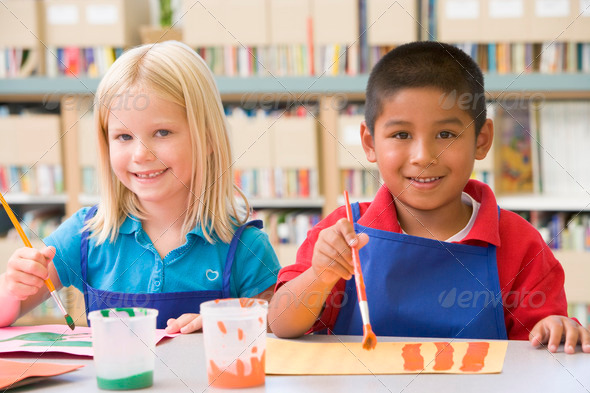Stock Photo - PhotoDune Kindergarten children painting 313973