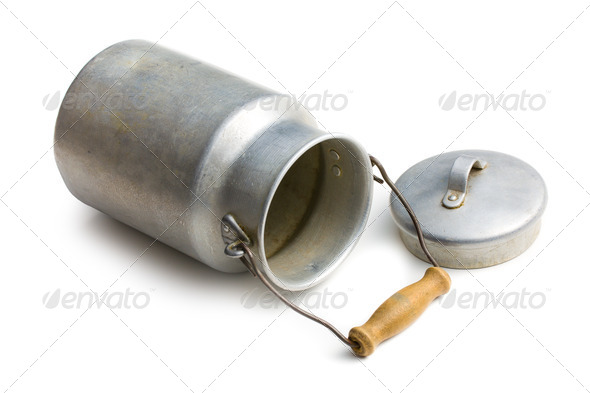 aluminium milk can - Stock Photo - Images