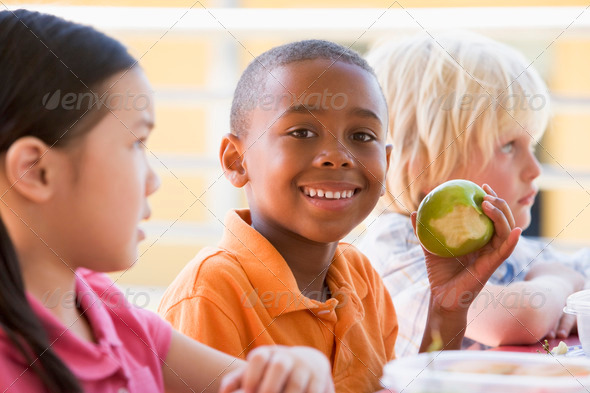 Stock Photo - PhotoDune Kindergarten children eating lunch 313996