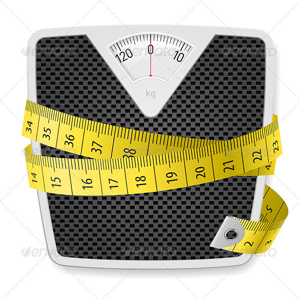 Weights and tape measure - Miscellaneous Vectors
