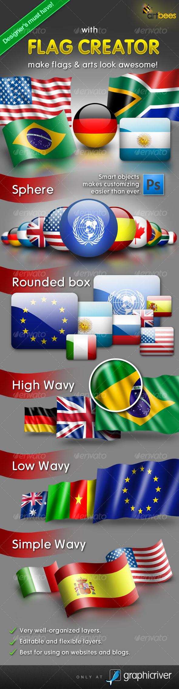 GraphicRiver Flag Creator 108604