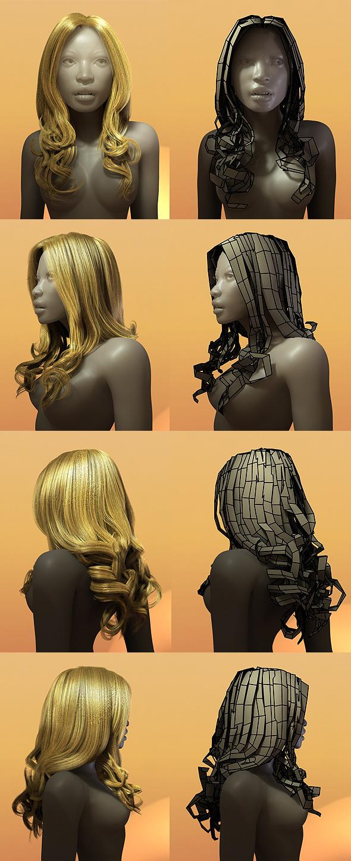 3d Model Female Hair Style 003