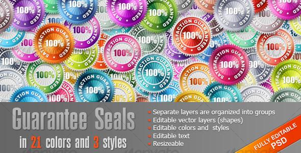 GraphicRiver Guarantee Seals 108611