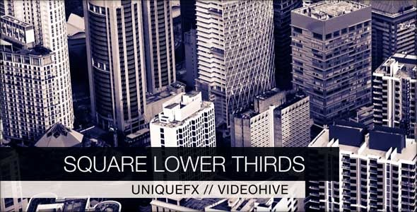 VideoHive Square Lower Thirds 3057449