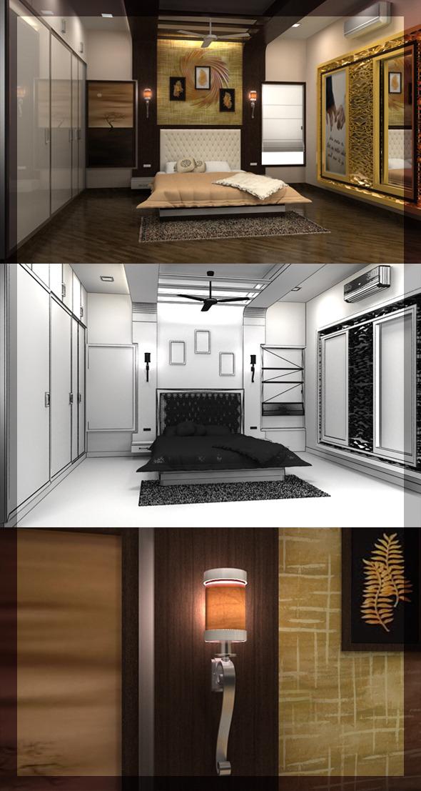 3DOcean Edit Bed Room 3D interior design 8080 108 3057453