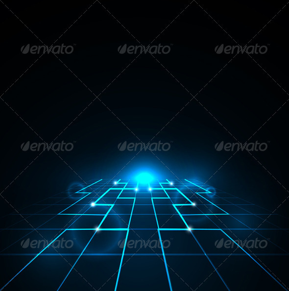 Perspective Network Design - Backgrounds Decorative
