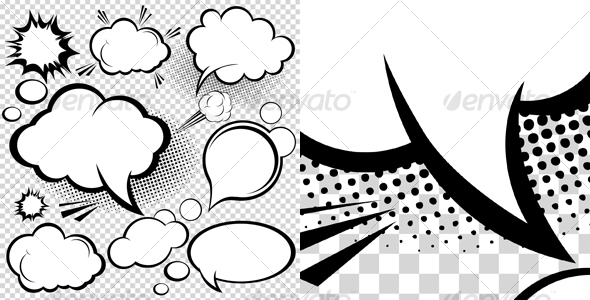 Comic Speech Bubbles - Decorative Symbols Decorative