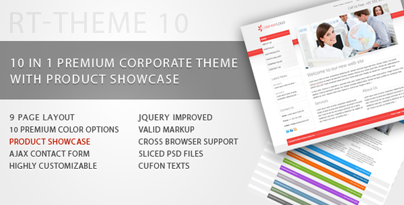 ThemeForest RT-Theme 10 Business Theme with Product Showcase 108656