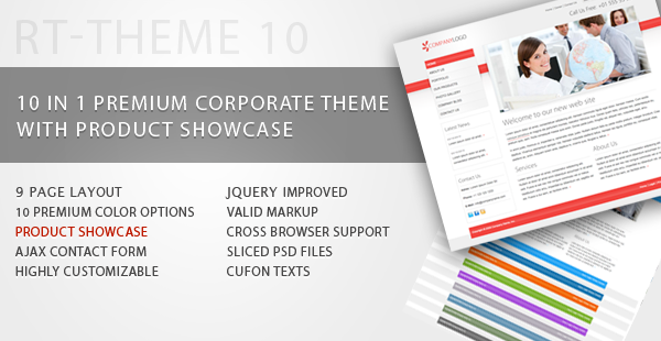 RT-Theme 10 /Business Theme with Product Showcase