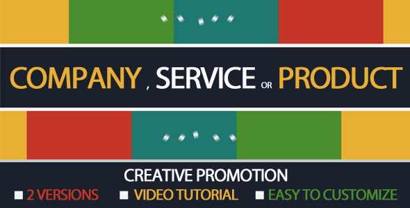 After Effects Project - VideoHive Creative Product Company or Service Promo ...