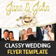 Classy Wedding Flyer - GraphicRiver Item for Sale