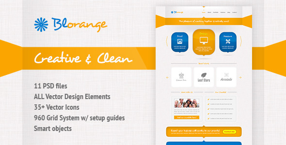 ThemeForest Blorange Multipurpose Creative Template 3053229