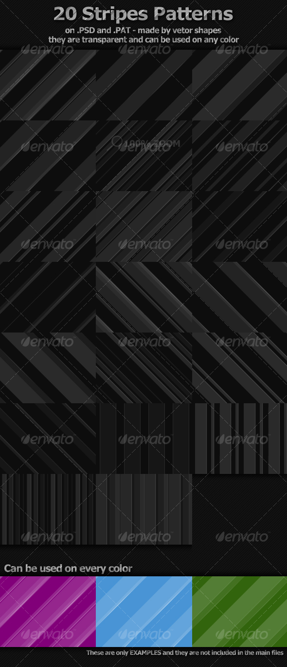 GraphicRiver 20 Stripes Patterns 108667