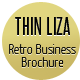 THIN LIZA - Retro Business Brochure - GraphicRiver Item for Sale