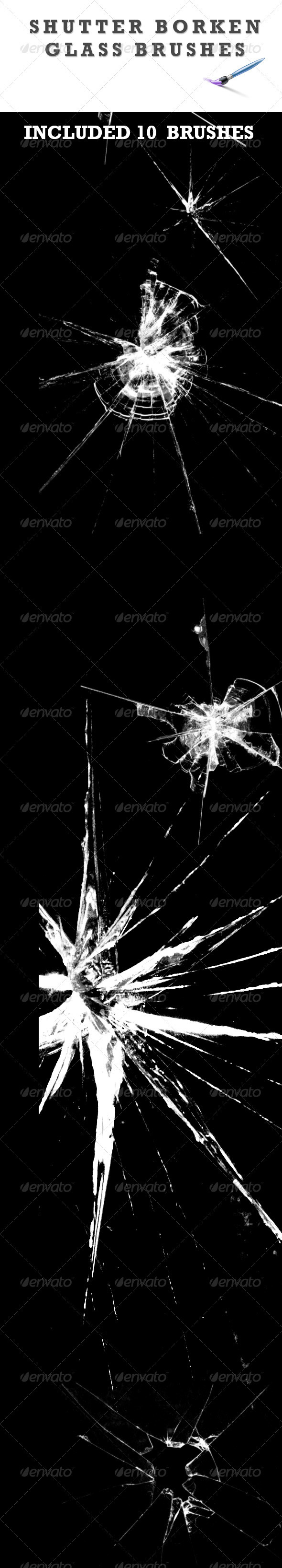 GraphicRiver Shutter Broken Glass Brushes 3058435