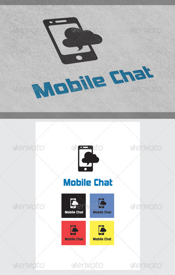 Mobile Chat Logo Templates