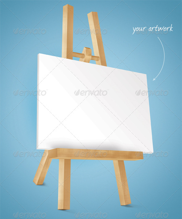 Photorealistic Easel Mock-Up