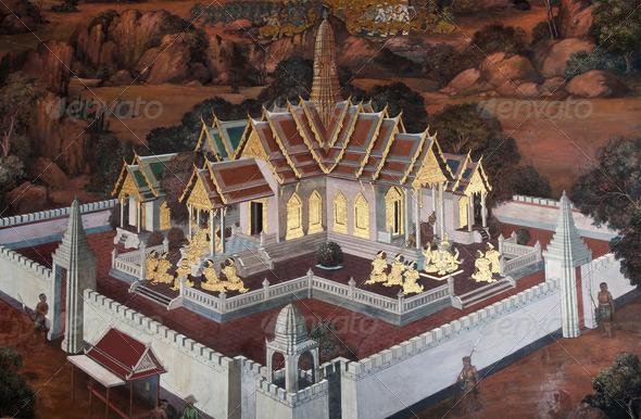 Public Art Painting at Bangkok - Stock Photo - Images