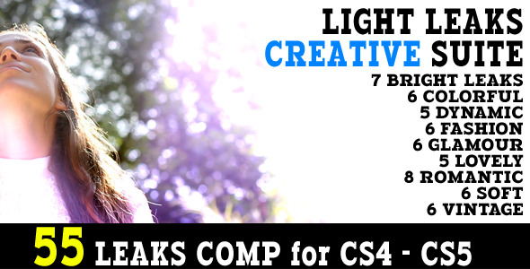 Light Leaks Creative Suite 55 Animations
