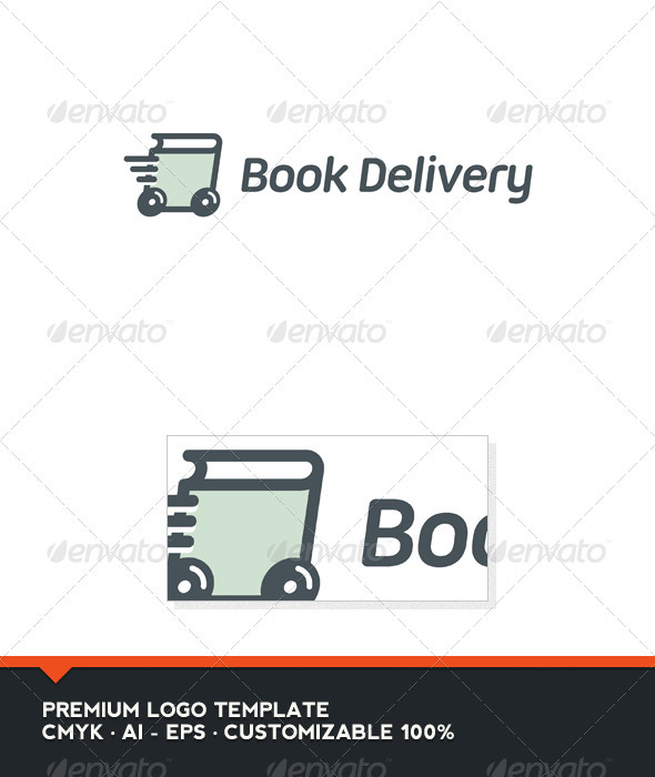 Book Delivery Logo Template - Objects Logo Templates