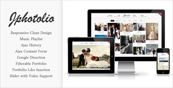 JPhotolio: Responsive Wedding Photography Template - Wedding Site Templates