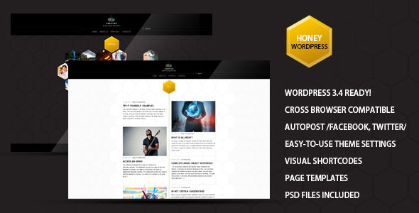 Honey - Creative Portfolio, Photography Theme