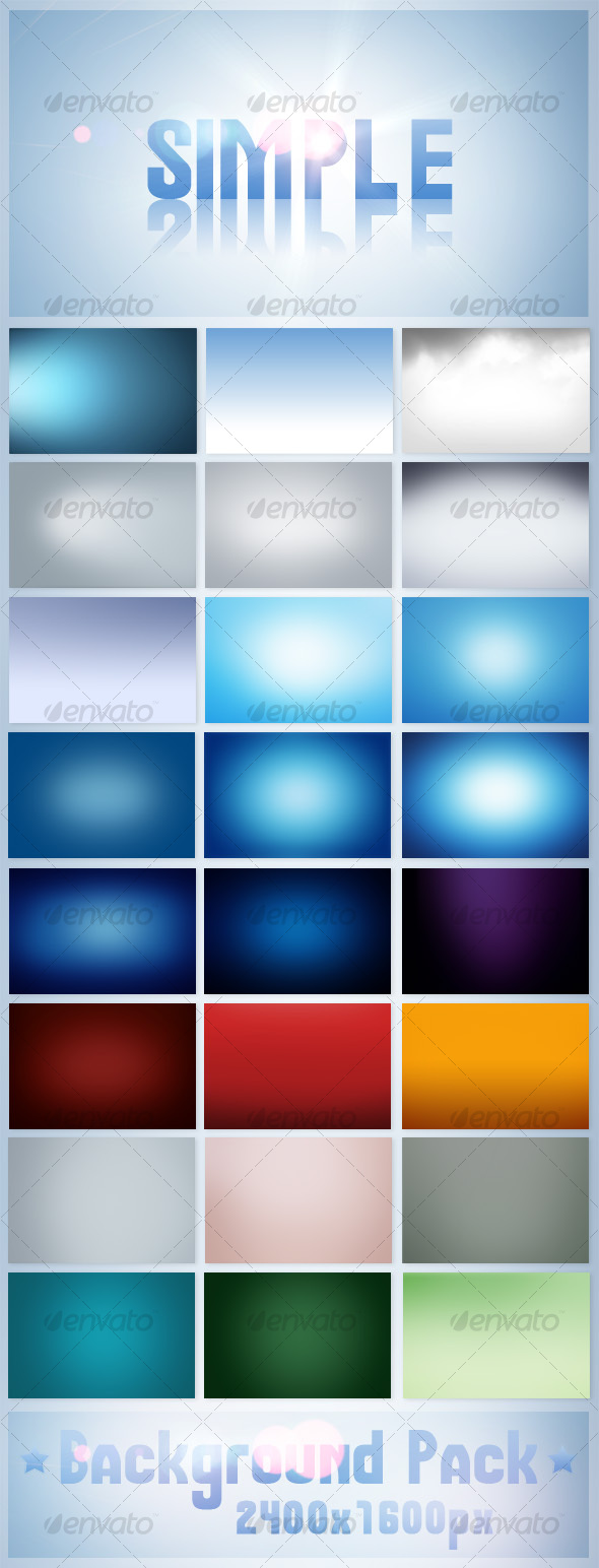 GraphicRiver Simple Background Pack 108822
