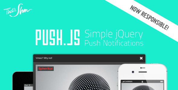 CodeCanyon Push.js Simple Push Notification 2996741