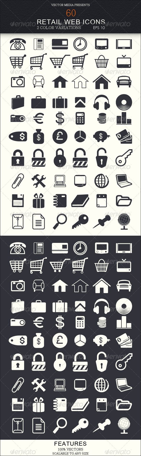 60 Retail Web Icons