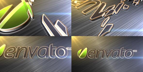 VideoHive Elegant Metallic Logo Reveal 3063405