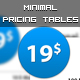 Minimal Pricing Tables - GraphicRiver Item for Sale