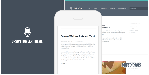 Orson - A Clean Tumblr Theme