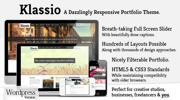 Klassio - A New Responsive Business Portfolio WordPress Premium Theme