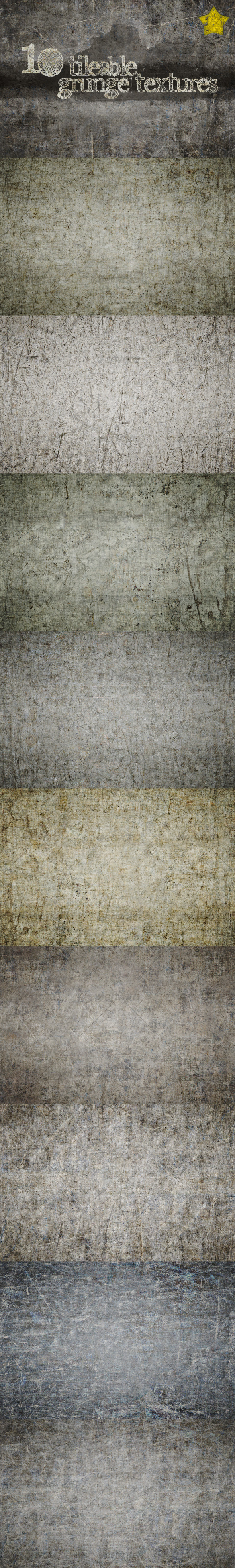 GraphicRiver 10 Tileable Grunge Textures 107664