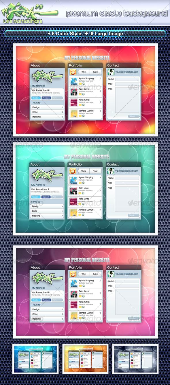 GraphicRiver Premium Circle Background 108880
