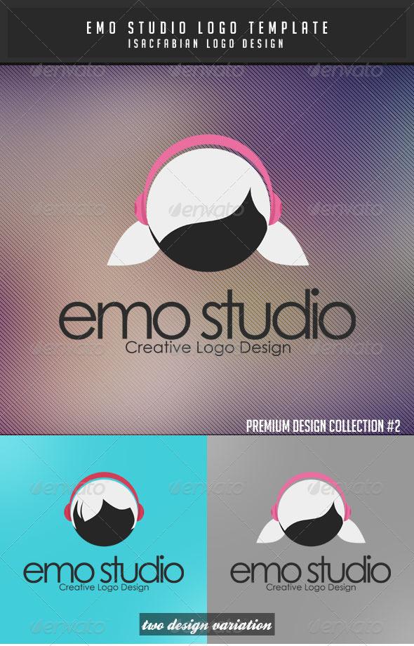 Emo Studio Boy Logo Template  - Symbols Logo Templates