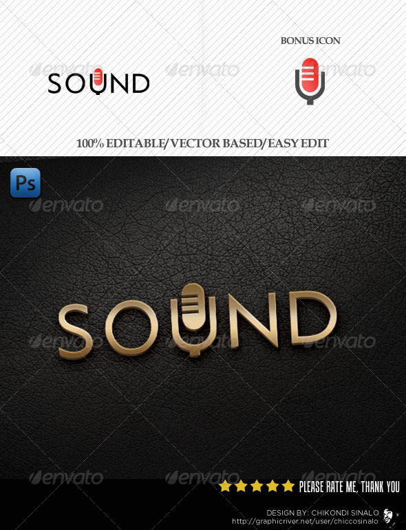 Sound Mic Logo Template