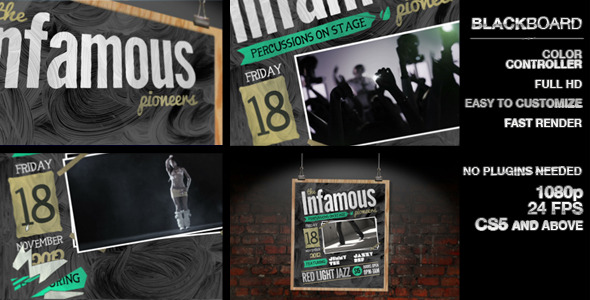 After Effects Project - VideoHive Blackboard 3058313