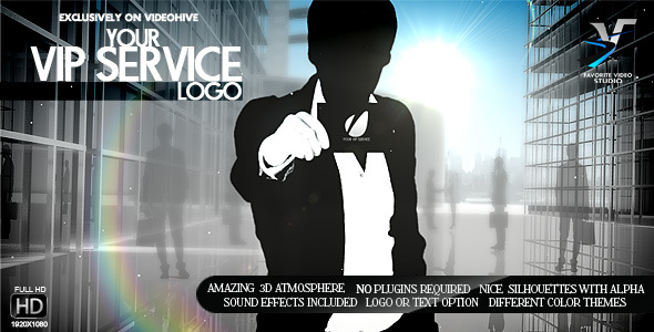 After Effects Project - VideoHive Your V.I.P Service Logo 3065329