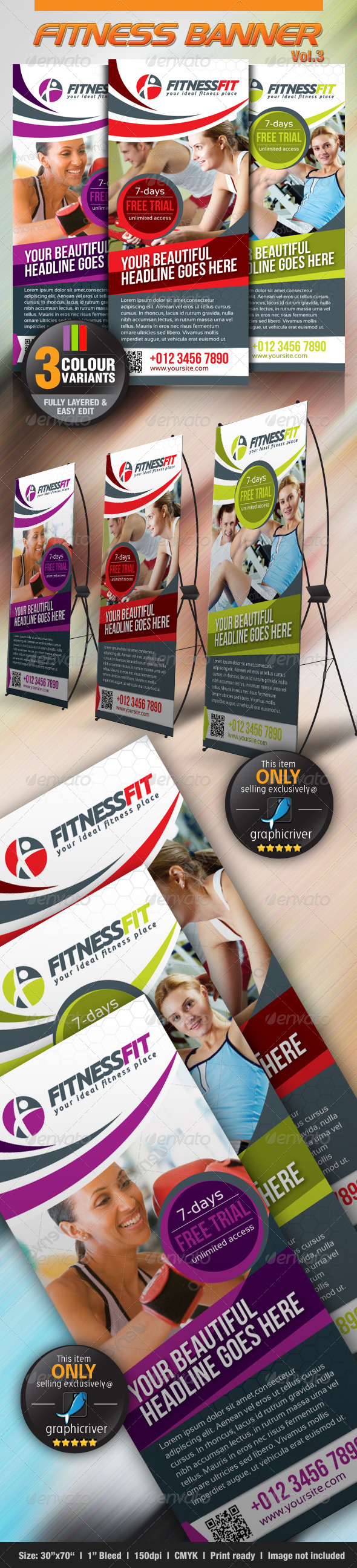 GraphicRiver Fitness Banner Vol.3 3065693