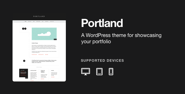 Portland - A WordPress Portfolio Theme