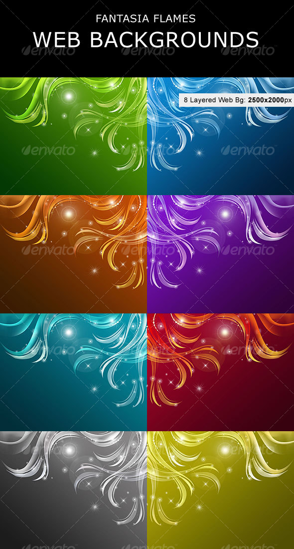 GraphicRiver Fantasia Flames Web Backgrounds 108923