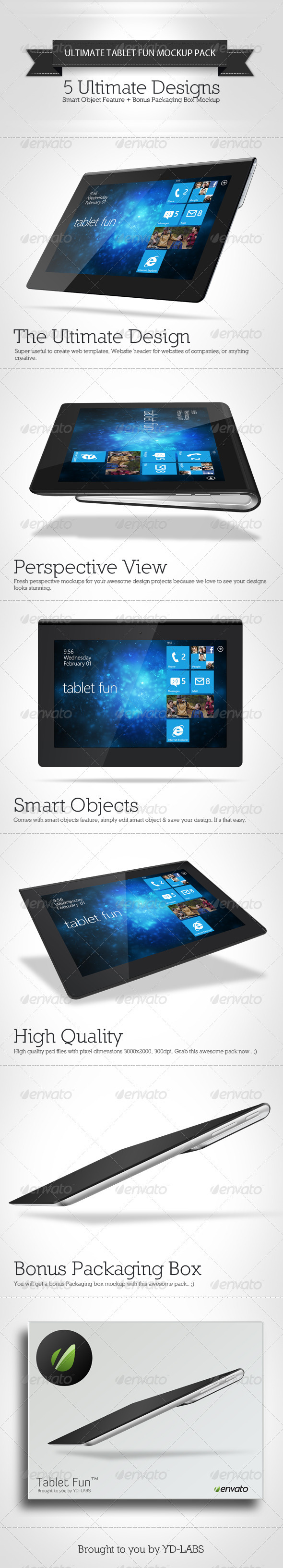 GraphicRiver Tablet Fun Mockup Pack 3065781