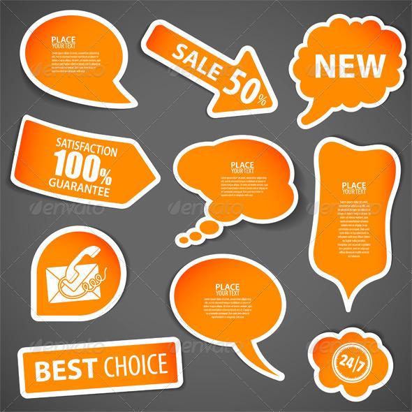 GraphicRiver Speech Bubbles 3057309