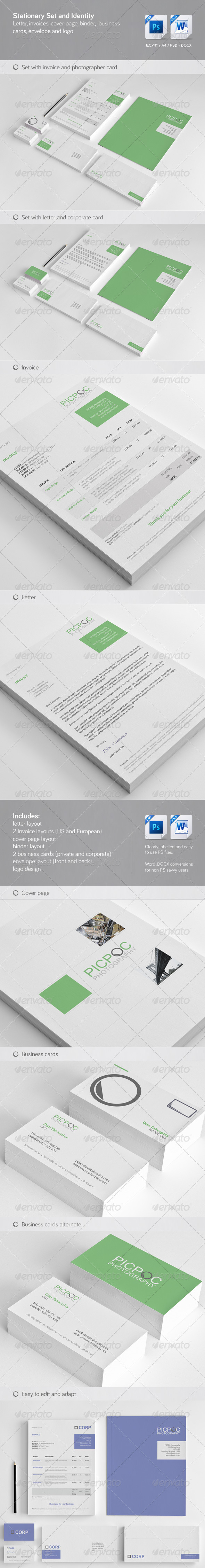 Clean & Modern Stationary Invoice and Identity